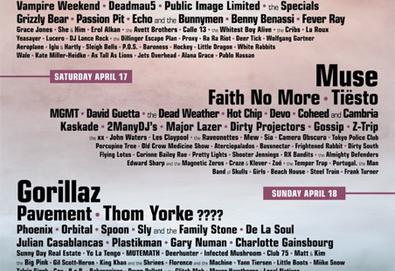 Coachella 2010 terá Faith No More, Pavement, Thom Yorke, Them Crooked Vulture e Muse. Confira o line-up