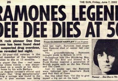 Há dez anos morria Dee Dee Ramone