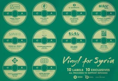 Vinyl For Syria reúne membros do Blur, Franz Ferdinand, Red Hot, Yeah Yeah Yeahs, entre outros