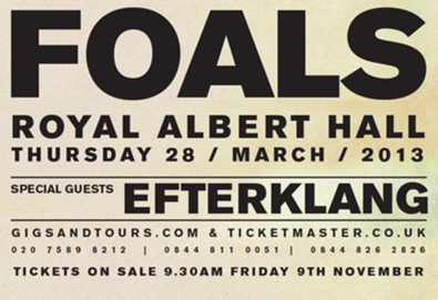 Foals lançará registro ao vivo gravado em Londres