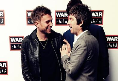 Damon Albarn e Noel Gallagher trabalhando juntos